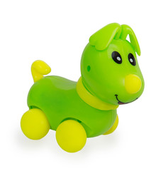 Green plastic dog toy