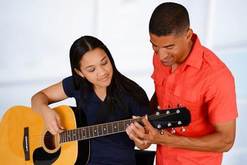 Teen Guitar Player