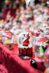 Santa Claus in a glass bubble