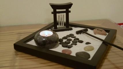 piccolo giardino zen da tavolo