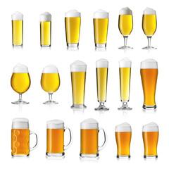 Bier gläser Collage Pils Kölsch weizen seidel