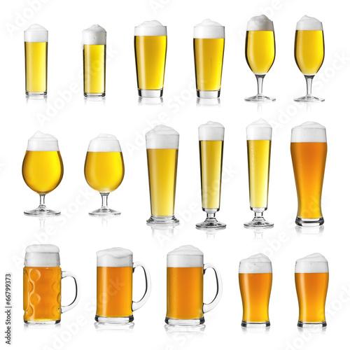 Bier gläser Collage Pils Kölsch weizen seidel - 66799373