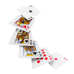 Playing cards poker casino