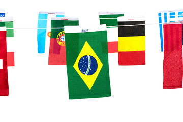 Flags for soccer championship 2014