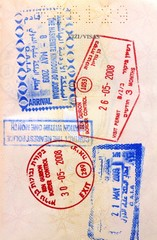 Israel Jordan visa stamps in a European Union passport