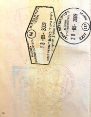 Hebrew Israel stamps in a European Union passport