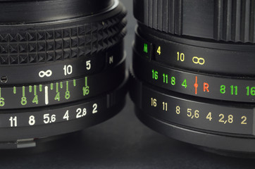 Two lens with digital scale macro