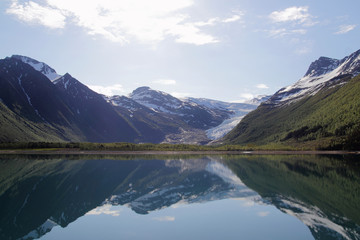 The glacier, the ocean, the mountains