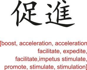 Chinese Sign for boost, acceleration, promote, stimulate