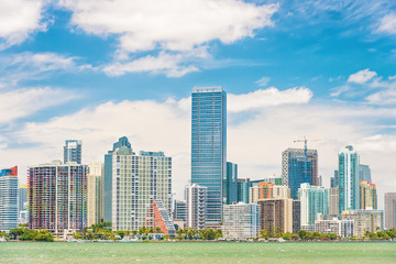 The Miami skyline on a beautiful day