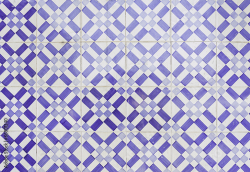 Ceramic blue tiles