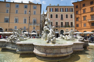 Rome, Piazza Navona, Moor's Fountain