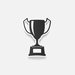 realistic design element: winner