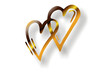 goldenes doppeltes Herz