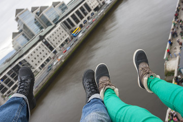 Two pair of foot over Dublin