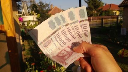 Ungarische Forint in der Hand