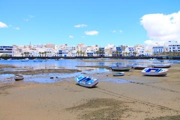 Fischerboote in Charco de San Gines, Lanzarote