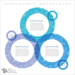 Infographics Background Watercolor Ring #Vector