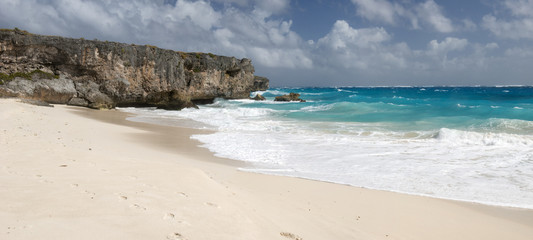 Solitary beach at Barbados