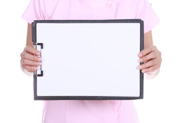 Blank medical clipboard
