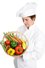 Chef Inspecting Produce