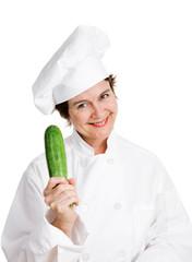 Chef Holding Zucchini