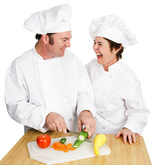 Cutting Up in Kitchen