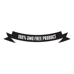 Gmo free product label