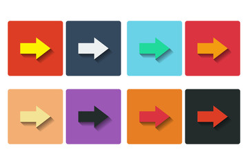 Flat arrows icons