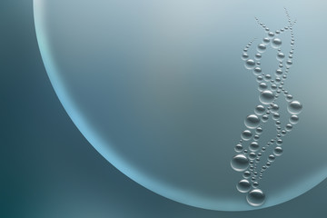 Horizontal abstract background Bubbles