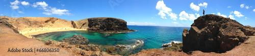 canvas print picture Punta del Papagayo, Lanzarote