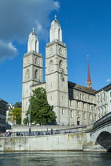 Grossmünster Church in Zurich, Switzerland