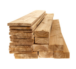 Lumber planks and boards