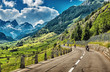 Group of bikers touring European Alps - 66806950