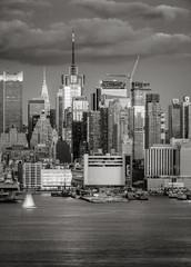 Midtown West Manhattan at dusk, New York City