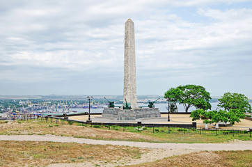 Slava's obelisk on the mountain Mitridat in Kerch