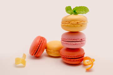 Colorful macaroon stack