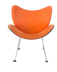 orange chair isolated on white background