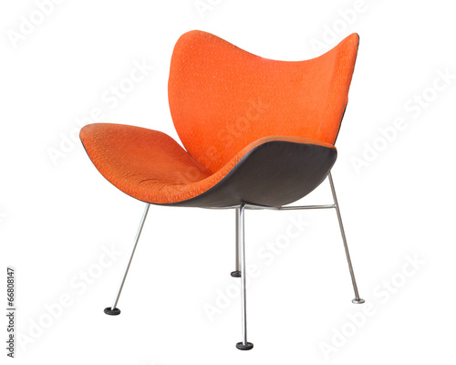 orange chair isolated on white background - 66808147