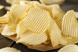 Unhealthy Crinkle Cut Potato Chips poster