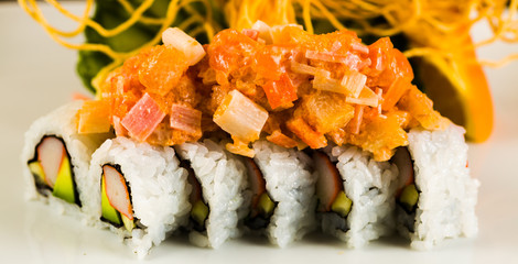 Crab and Salmon Roll