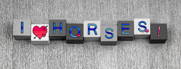 I Love Horses, sign series for horse riding and ponies.