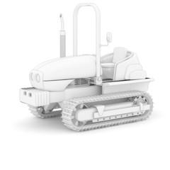 Raupen-Traktor - weiß isoliert