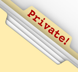 Private Personal Information Sensitive Documents Records Folder