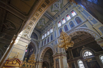 Interior of Assumption Cathedral in Kharkov.