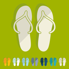 Flat design: slippers