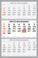 2015 november with red dating mark