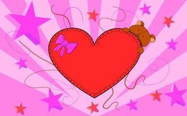 Oso corazón