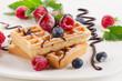 obraz - Belgian waffles wi...