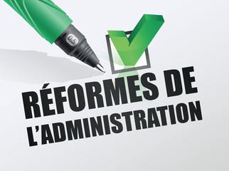 la réforme de l'administration en France